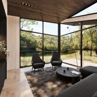 Guest quarters of Sylvan Rock house by S3 Architecture and Aston Martin