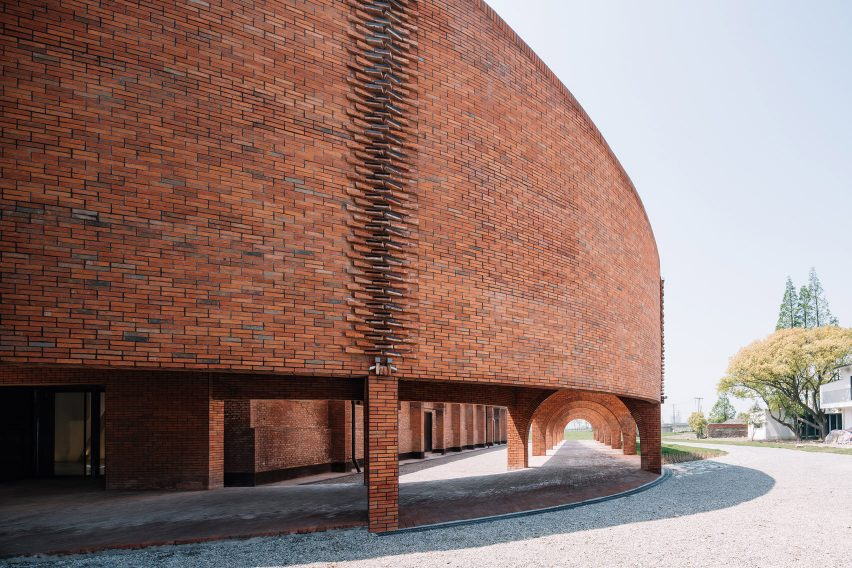 Exterior of TaoCang Art Center by Roarc Renew in Jiaxing, China