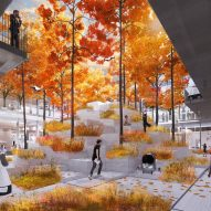 Courtyard enders for AI City and Cloud Valley campus designed by BIG for Terminus Group