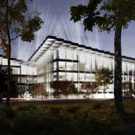 Night display in AI City and Cloud Valley campus designed by BIG for Terminus Group