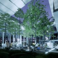 Courtyard in AI City and Cloud Valley campus designed by BIG for Terminus Group