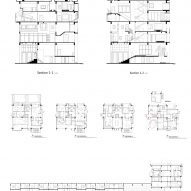 Plans of Borderless Community of Zi Ni Twelve Portals, housing project designed by Fei Architects in Guangzhou, China