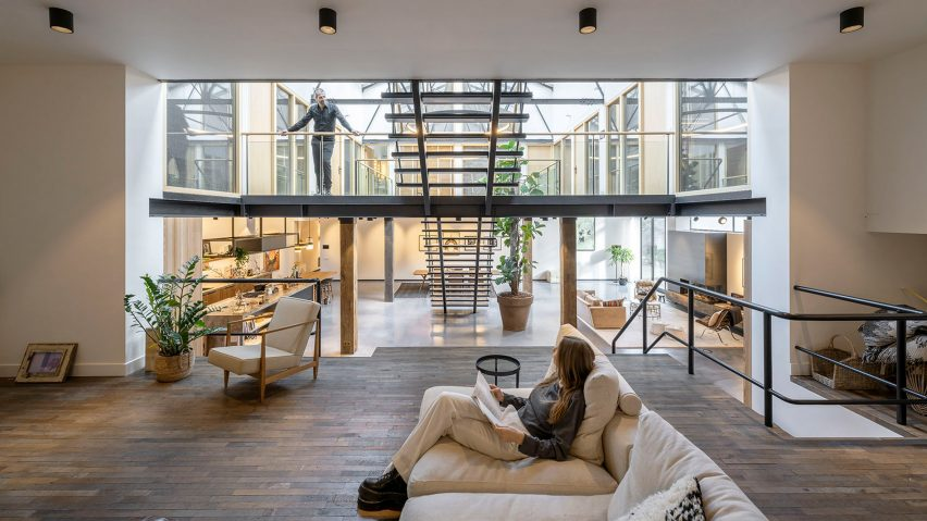 Living room of The Gymnasium apartment by Robbert De Goede