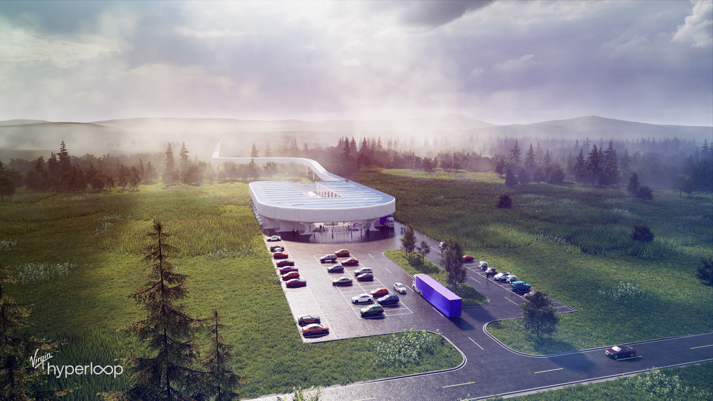 BIG design Virgin Hyperloop Certification Center for West Virginia
