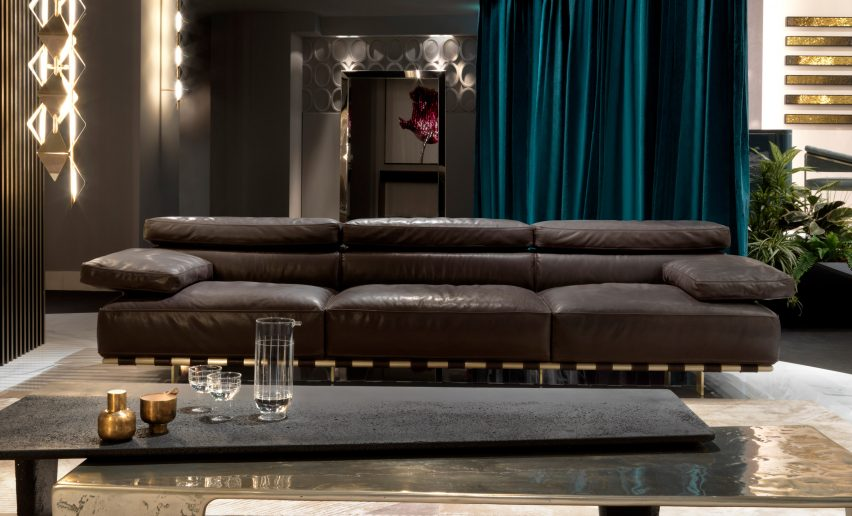 Mauro Lipparini's Montparnasse sofa from from the Beauty collection