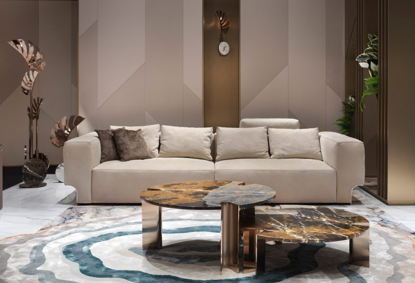 Alessandro La Spada's Douglass sofa from Visionnaire's Beauty collection