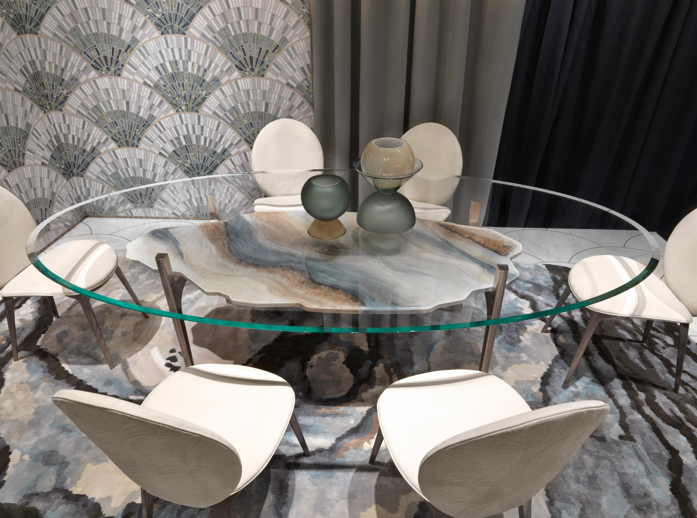 Alessandro La Spada's Arkady dining table from the Beauty collection