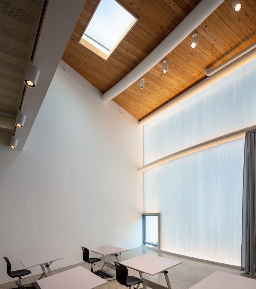 Studio inside Winter Visual Arts Building by Steven Holl Architects in Lancaster, Pennsylvania