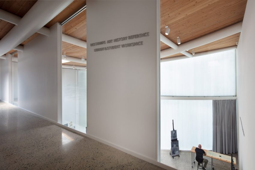 Inside Winter Visual Arts Building by Steven Holl Architects in Lancaster, Pennsylvania