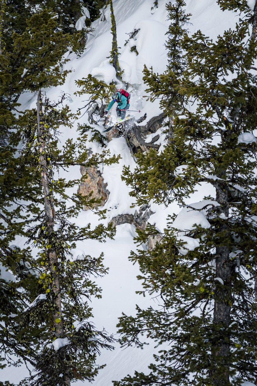 Benny Schmitt skiing on WNDR Alpine's Intention 110