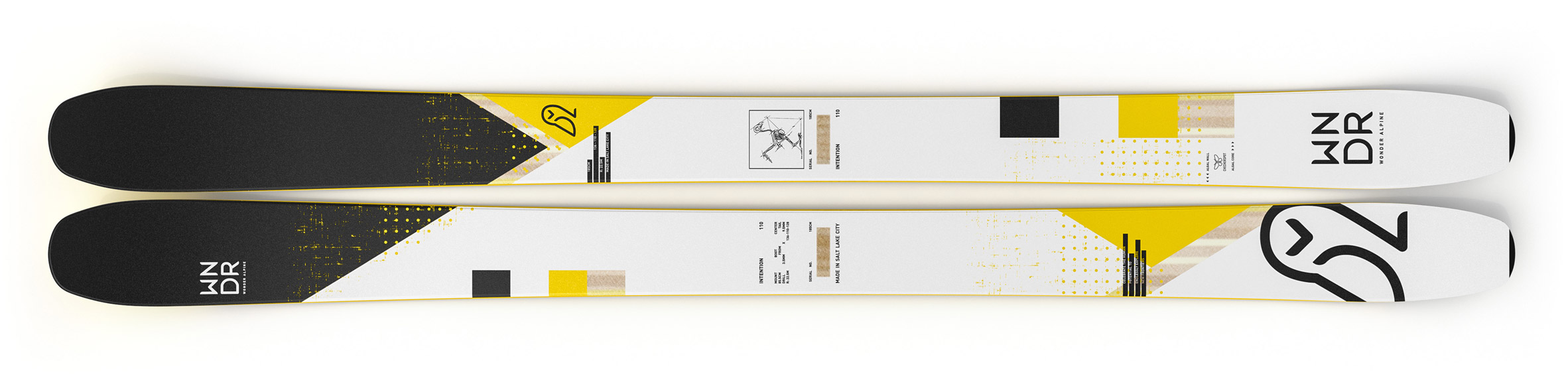WNDR Alpine develops Intention 110 skis made from algae to clean up slopes