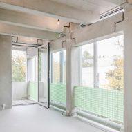 Wohnregal prefabricated concrete housing block by FAR in Berlin, Germany