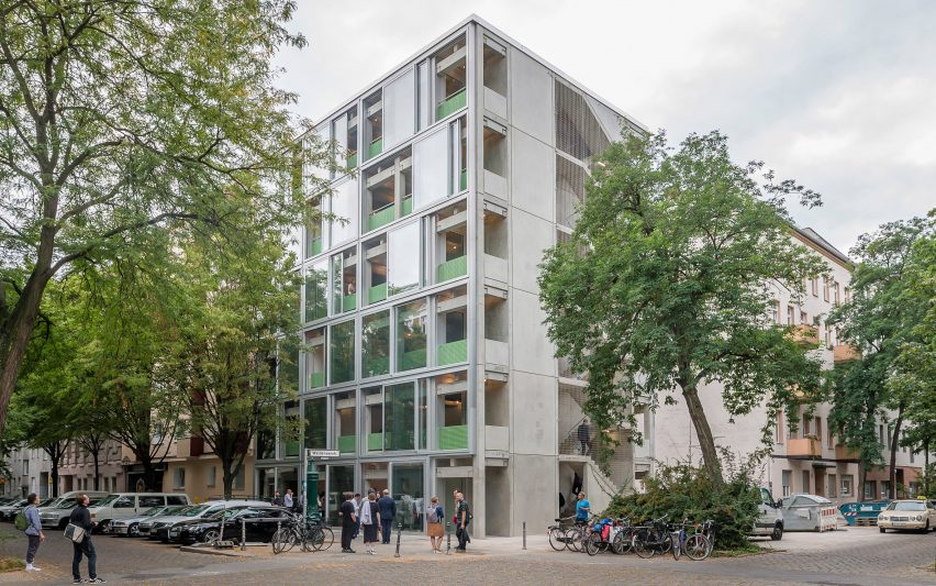 Wohnregal prefabricated concrete housing block by FAR in Berlin, Germany