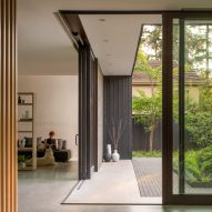 Gardens bookend Yo Ju Courtyard House in Washington by Wittman Estes