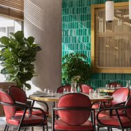 Interiors of Yung's Bistro restaurant in Hong Kong