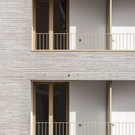 Brick facade of Zellige housing in Nantes, France, by Tectône and Tact Architectes