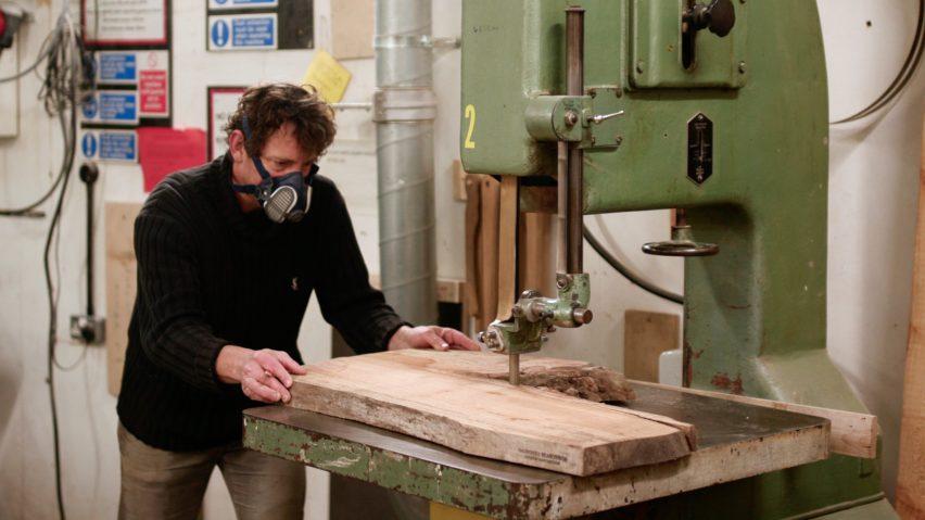 Sawing planks at Saunders Seasonings