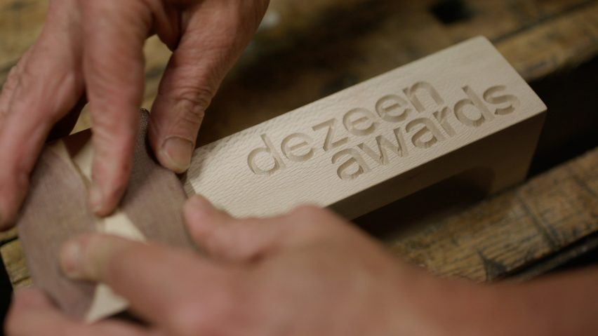 Dezeen Awards 2020 trophy by Atelier NL