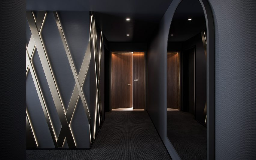Entrance in Aston Martin Residences by David Adjaye and Aston Martin