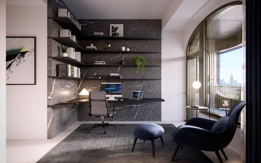 Study in Aston Martin Residences by David Adjaye and Aston Martin