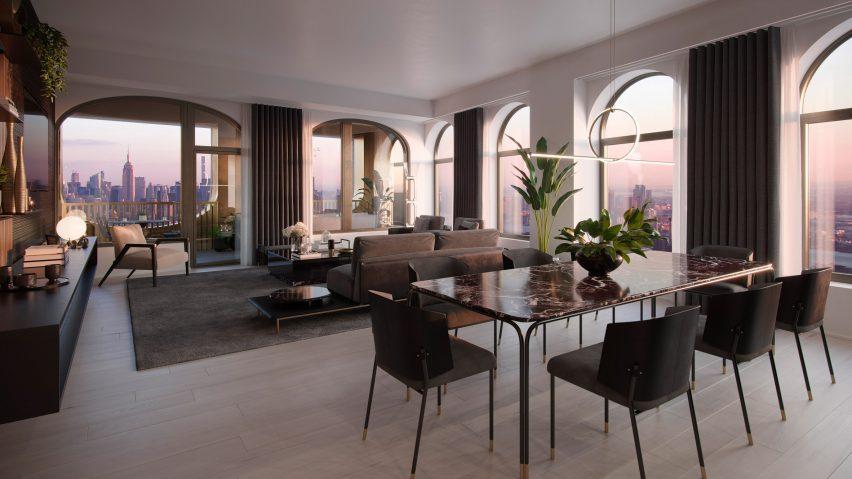 David Adjaye and Aston Martin-designed apartment