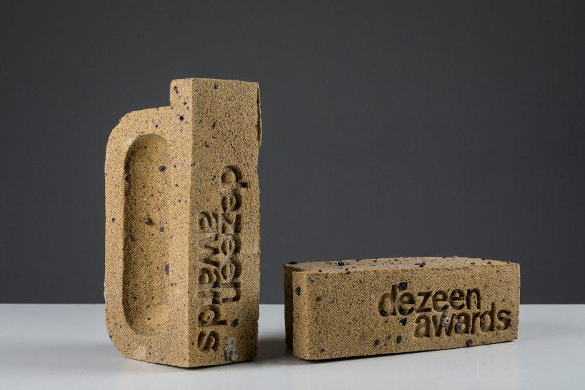 Dezeen Awards 2018 trophy by Atelier NL