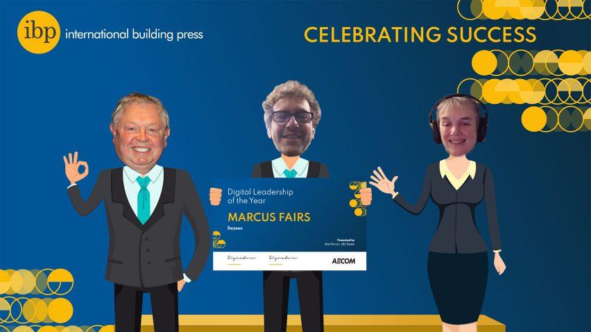 Marcus Fairs wins digital leadership of the year at the IBP Awards 2020