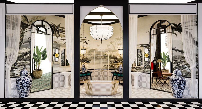 Silk Road Hotel installation by Baptiste Bohu at Design Shanghai
