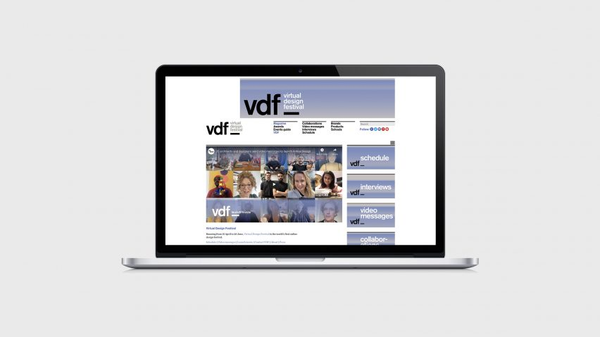 VDF microsite on a laptop computer