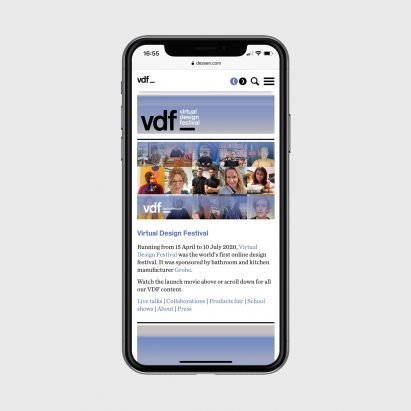 VDF microsite on a phone
