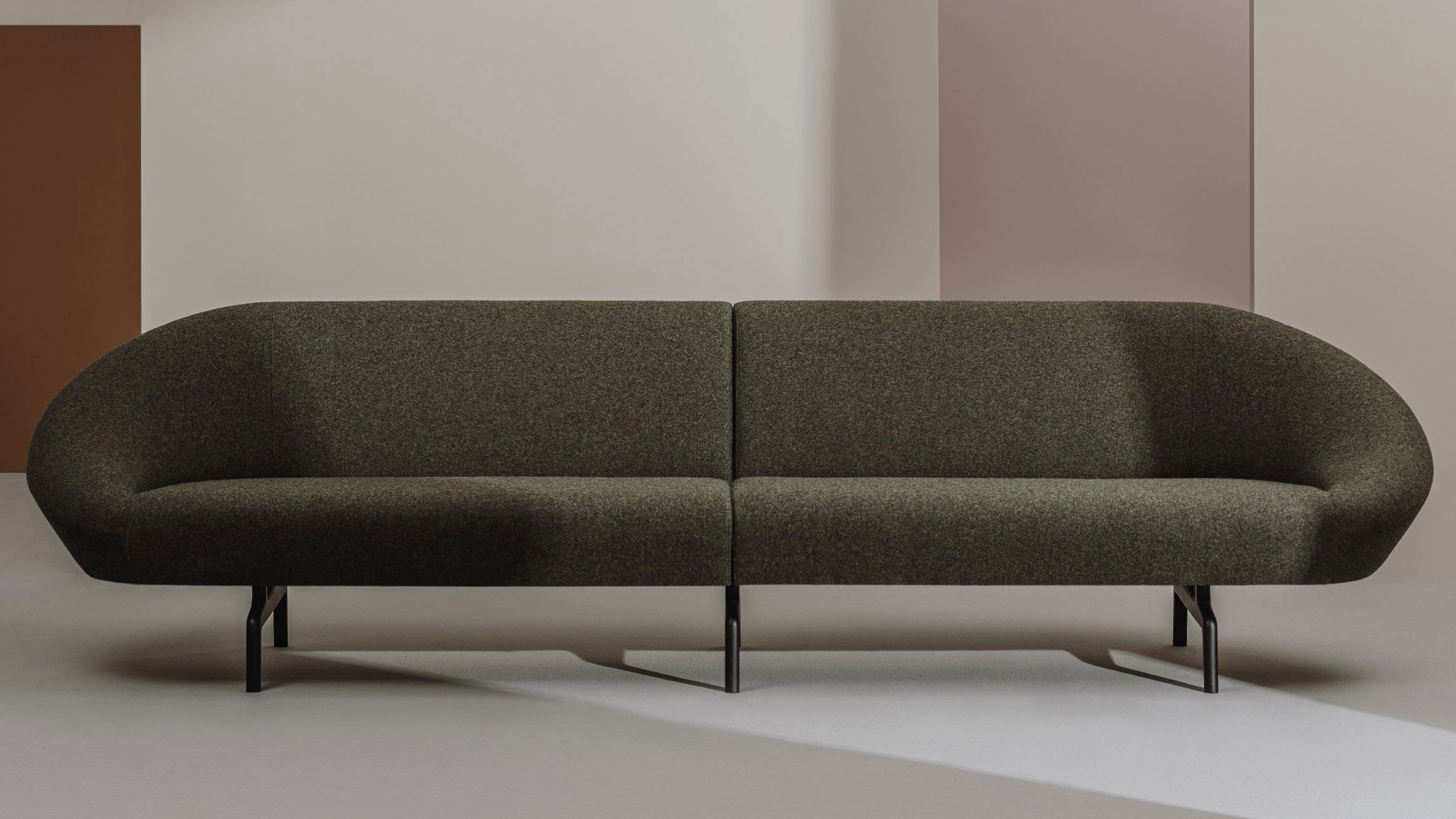 Black Giro Soft sofa by Alfredo Haberli for Andreu World