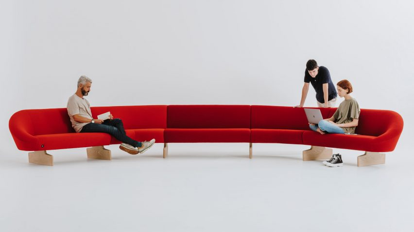 Giro Soft sofa by Alfredo Haberli for Andreu World