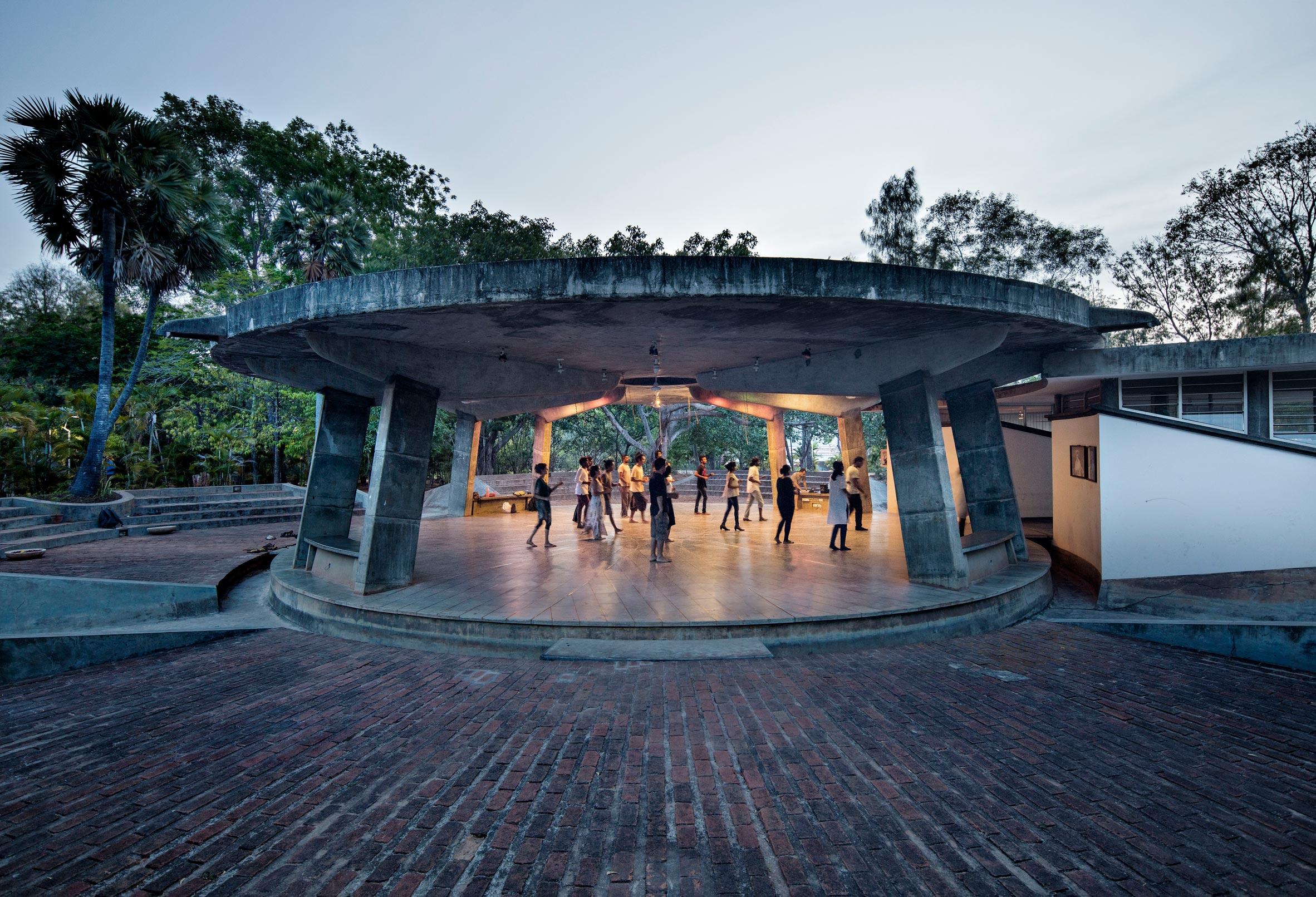 Anupama Kundoo architecture: Multipurpose Hall SAWCHU, 2000