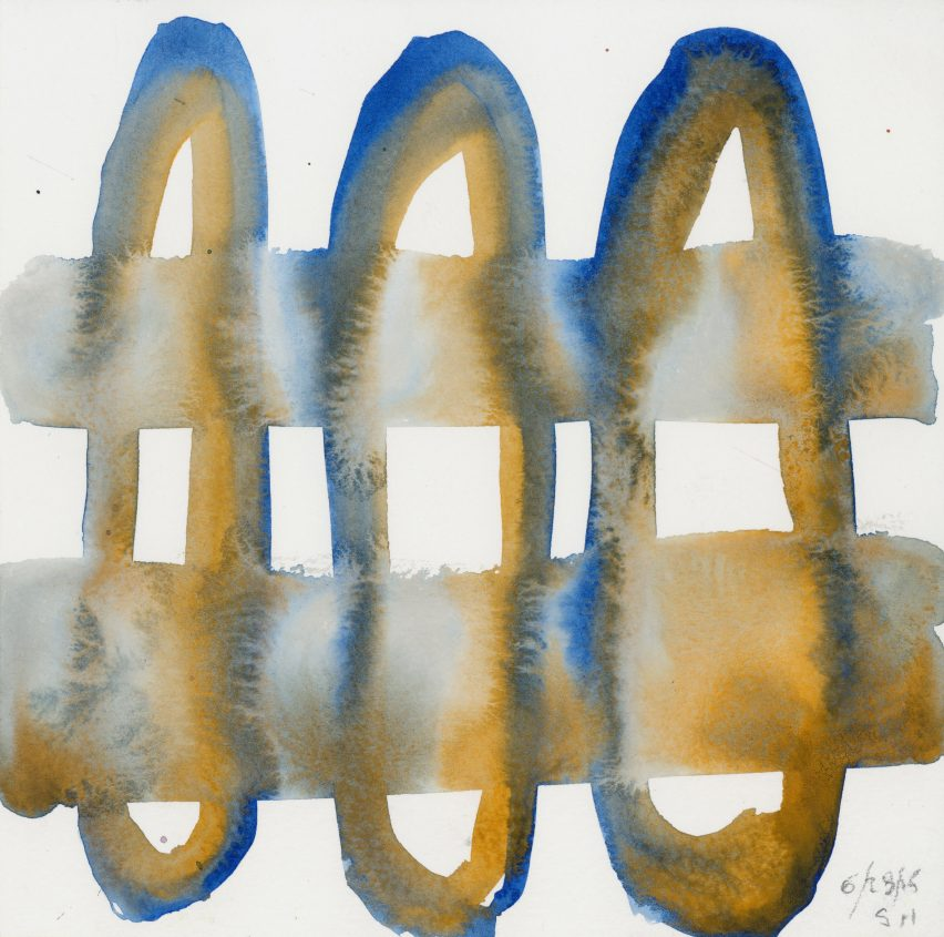 Steven Holl's Untitled 1 watercolour is for sale as part of the Architects for Beirut charity auction