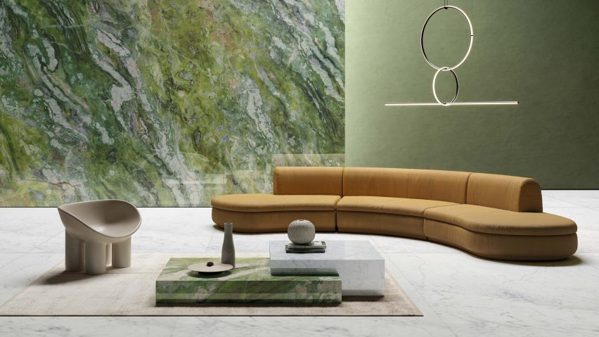 Brilliant Green by Ariostea in the Ultra Marmi​ collection