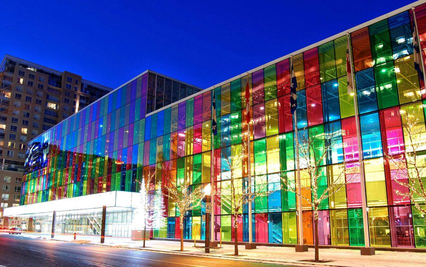 Facade of the Montreal Convention Centre