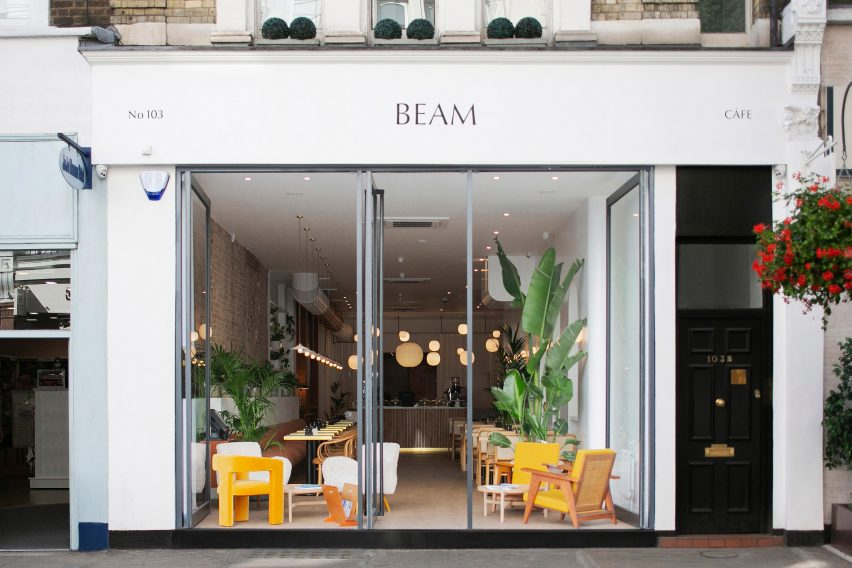 The exterior of Beam cafe in London