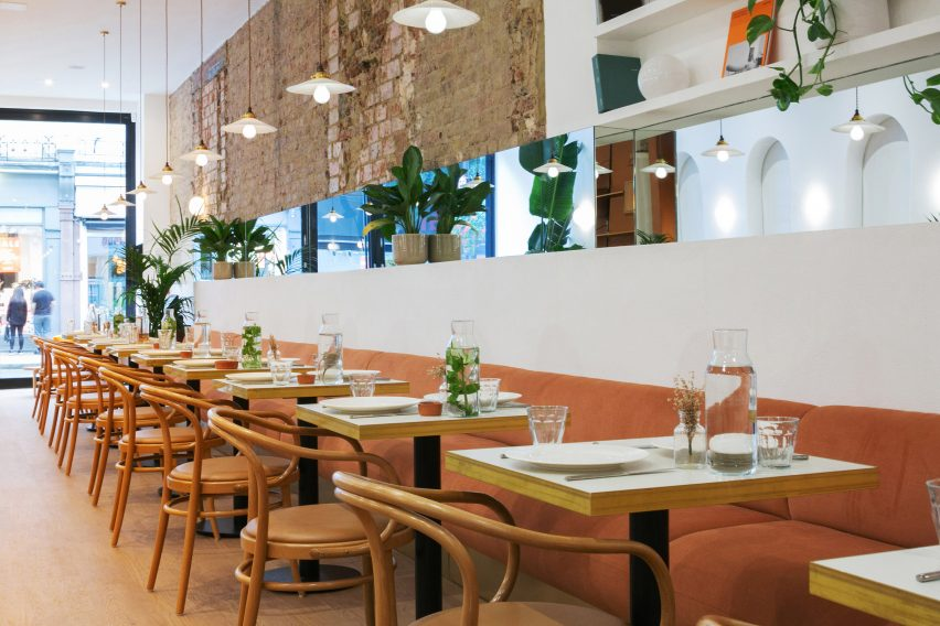 Dining area of Beam cafe in London