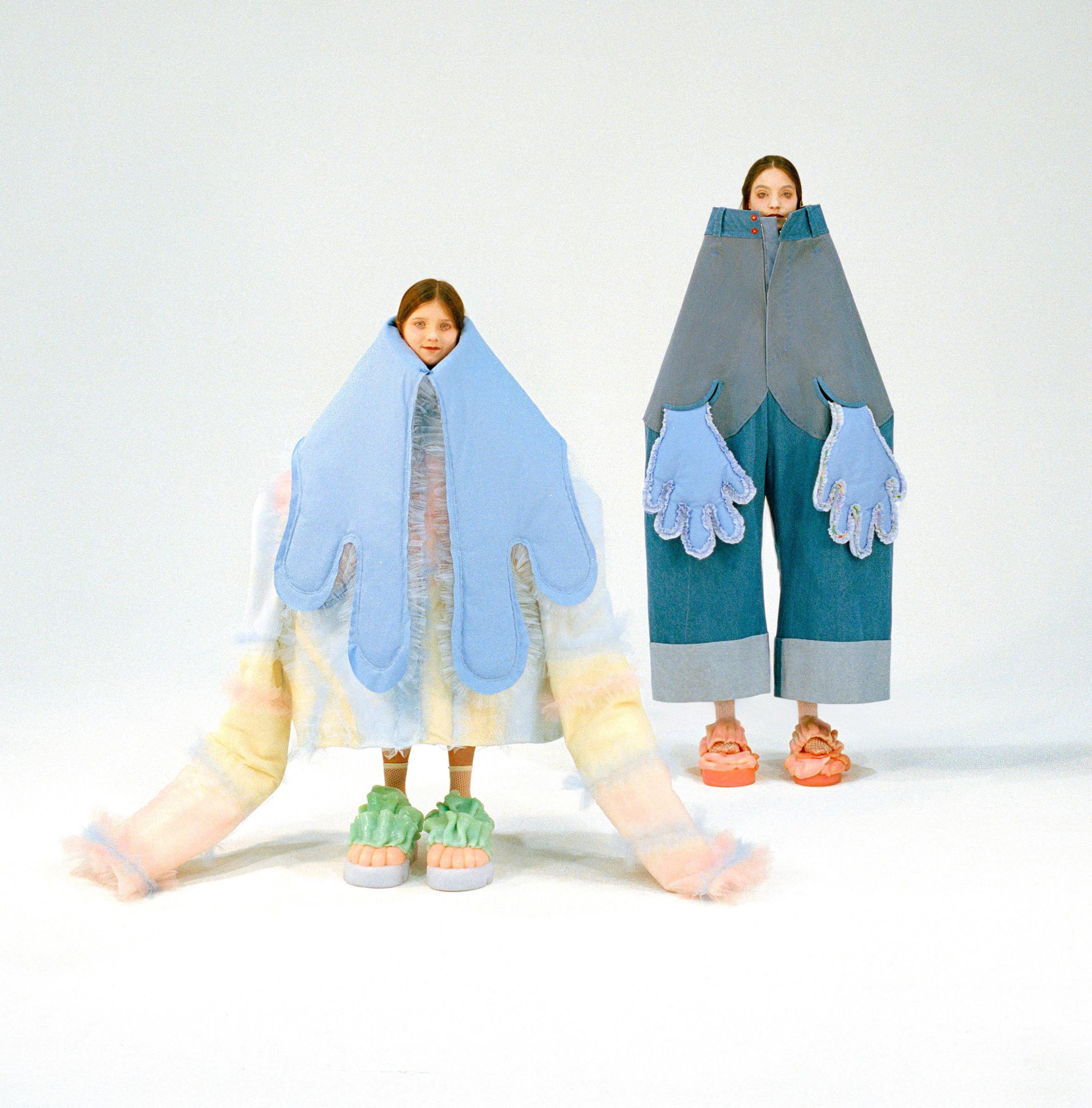 Beate Karlsson's fashion designs feature oversized versions of singular garments