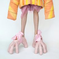 Beate Karlsson uses silicone to make claw shoes and wearable replicas of Kim Kardashian's bum