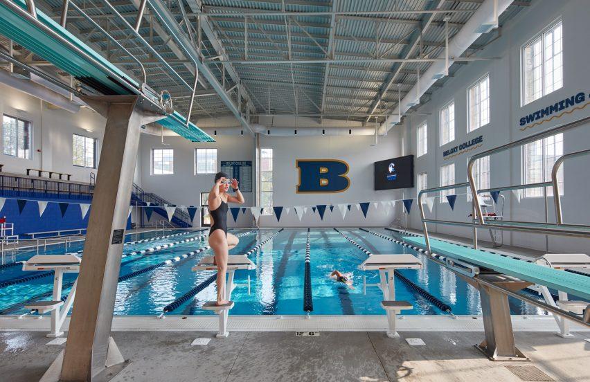 Swimming pool in Beloit Powerhouse by Studio Gang