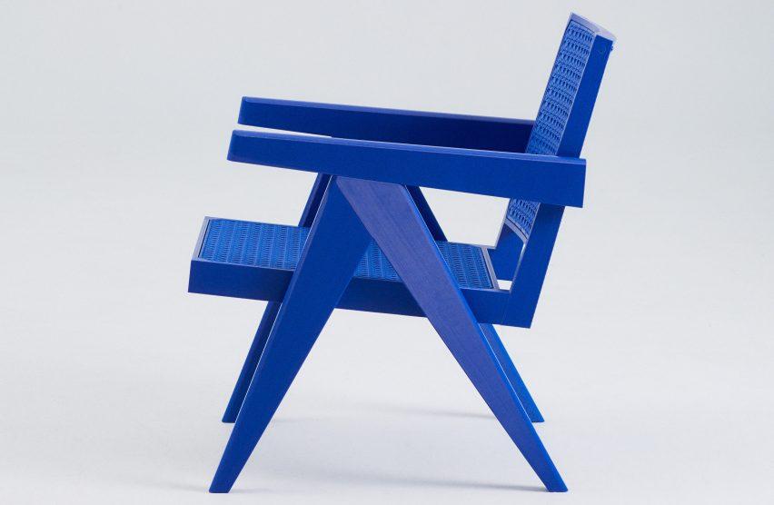 Streetwear version of Pierre Jeanneret's Chandigarh Easy Chair by Benjamin Fainlight