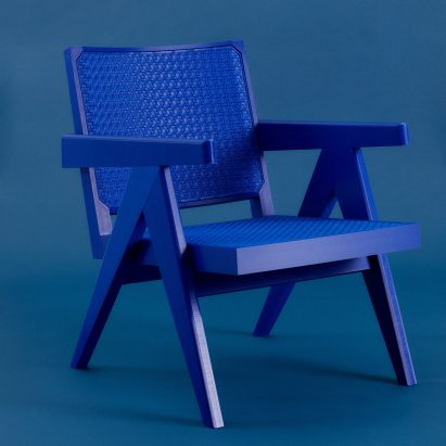 Streetwear version of Pierre Jeanneret's Chandigarh Easy Chair by Benjamin Fainlight
