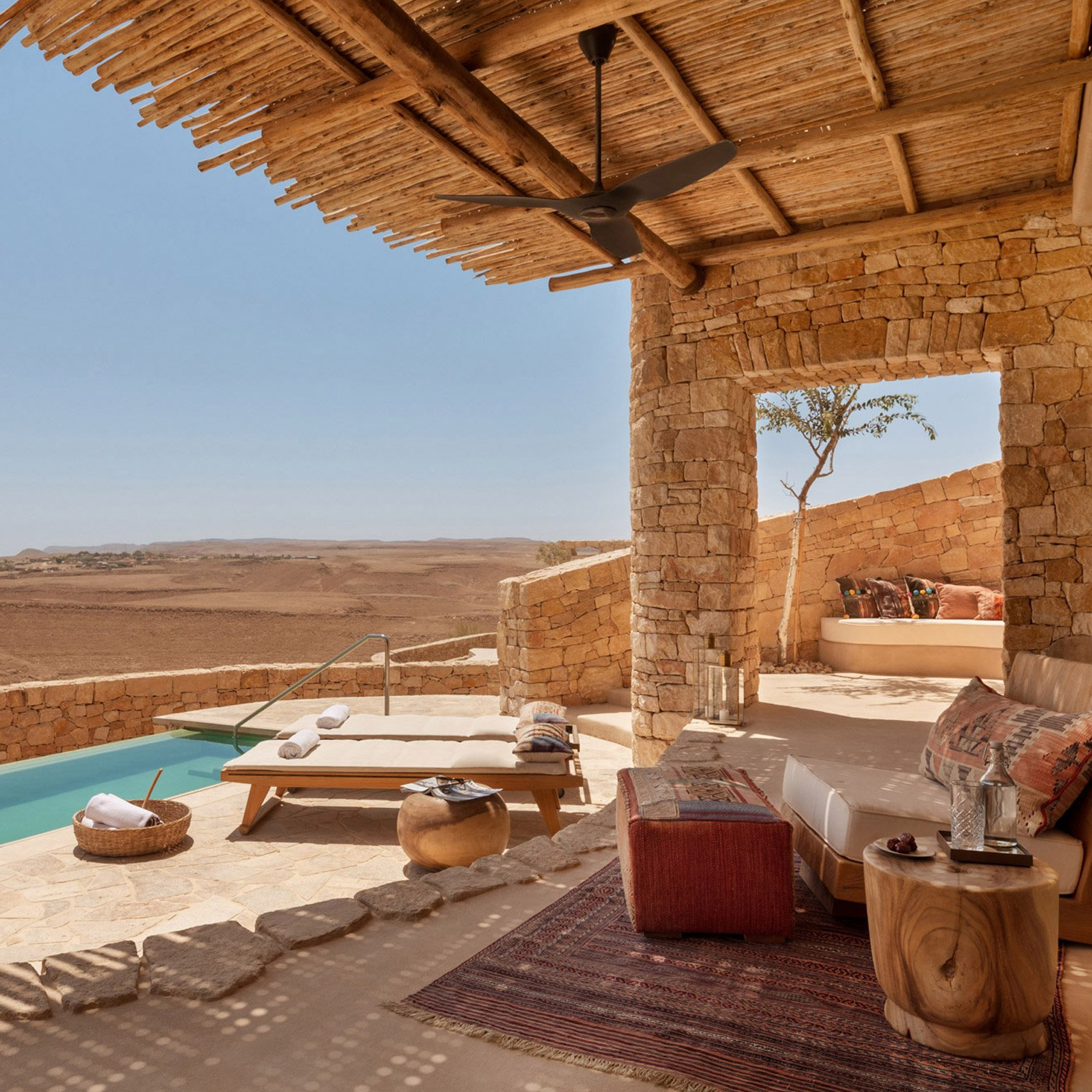 Dezeen's top hotels of 2020: Six Senses Shaharut by Plesner Architects