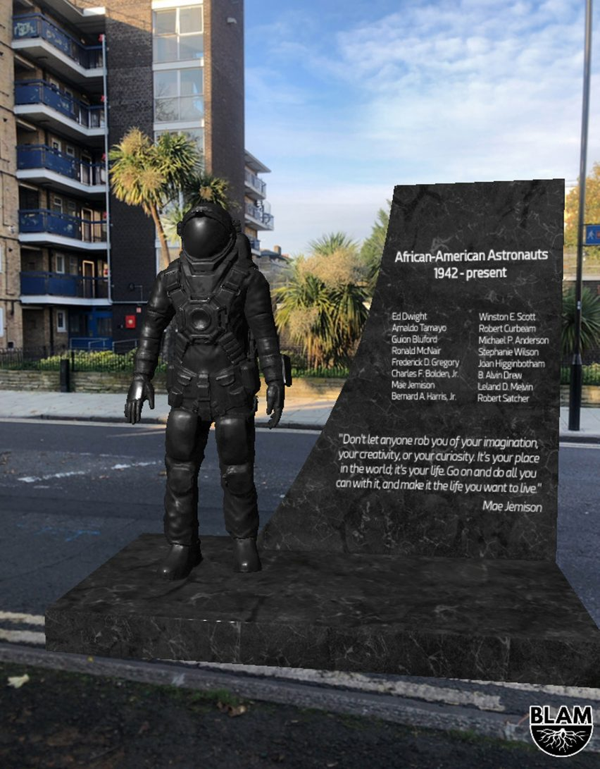 An AR monument for black astronauts from the BLAM Black history app