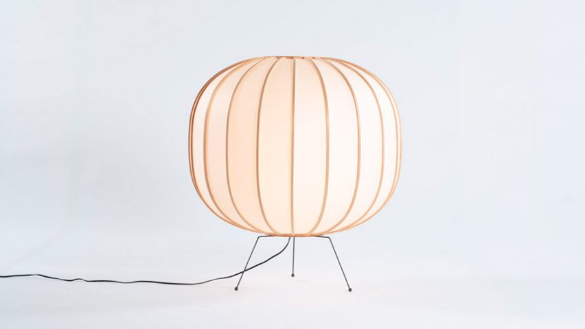 Floor lamp version of Bombori by Boffi