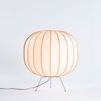 Floor lamp version of Bombori by Boffi