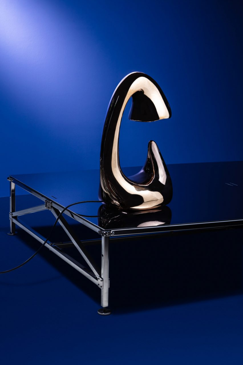 Lamp by Carlo Lorenzetti for Brassless exhibition