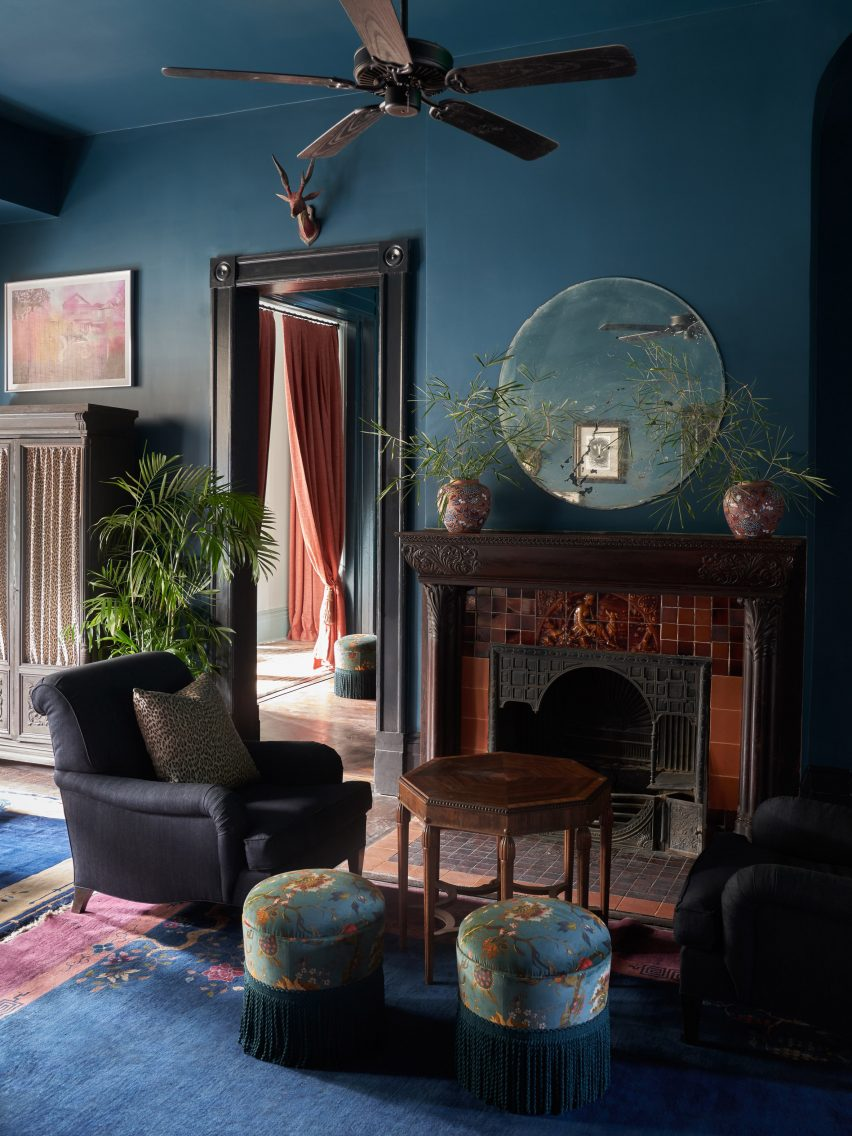The Chloe hotel in New Orleans features moody interiors