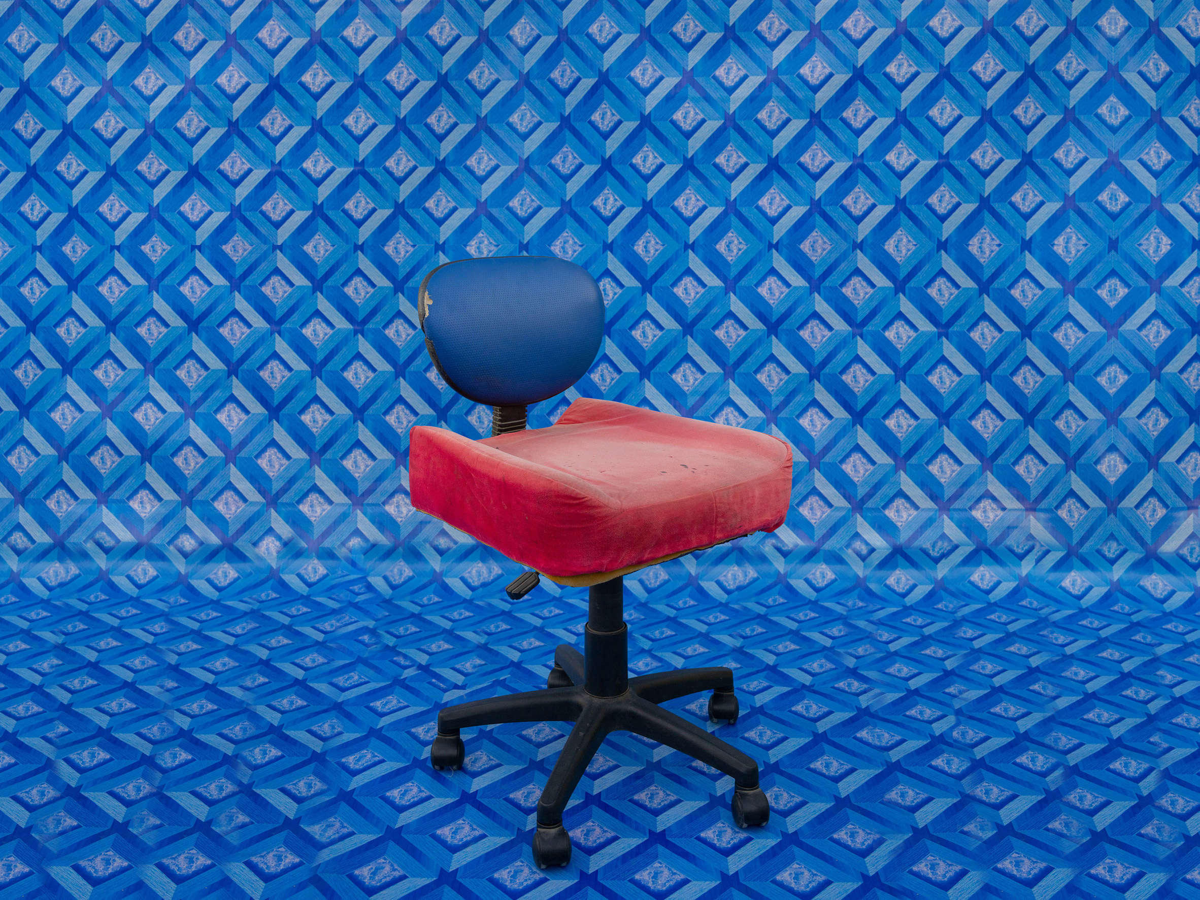 Auto Beauty Car Accessories chair from How to be at Rest installation by Christopher Benton